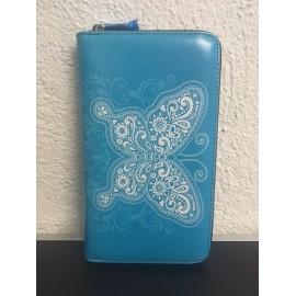 Okalosa Lederportemonnaie gross - Butterfly Blue