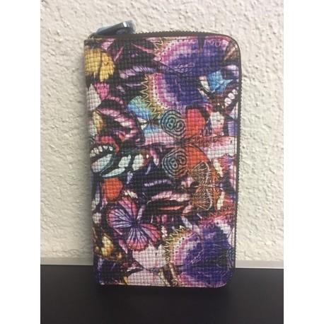 Okalosa Lederportemonnaie gross - Butterflies